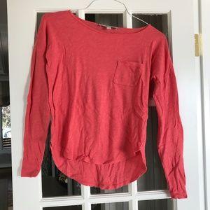 LOFT Coral Pocket T-Shirt